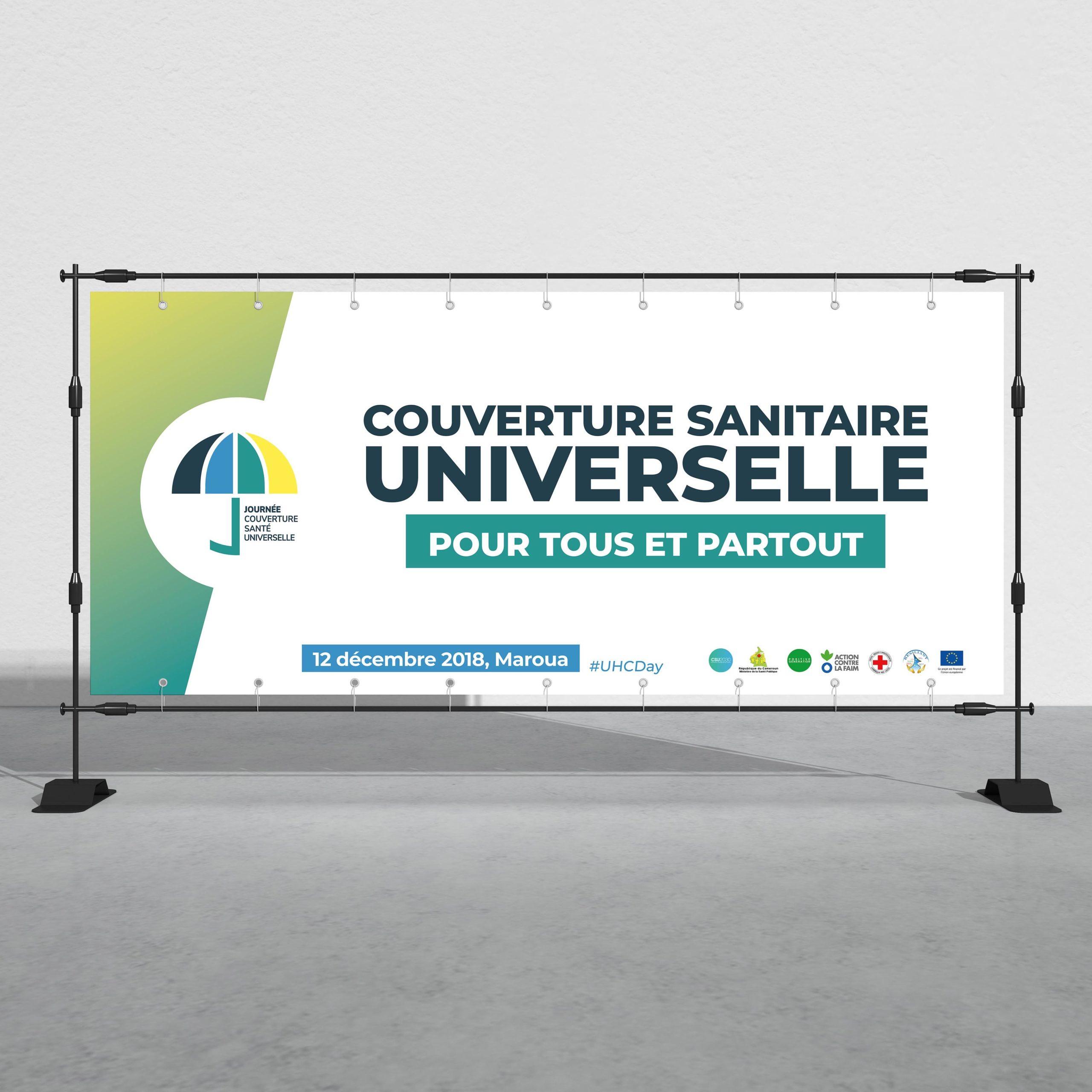 """Bannière """"Journée pour la Couverture santé universelle"""""""