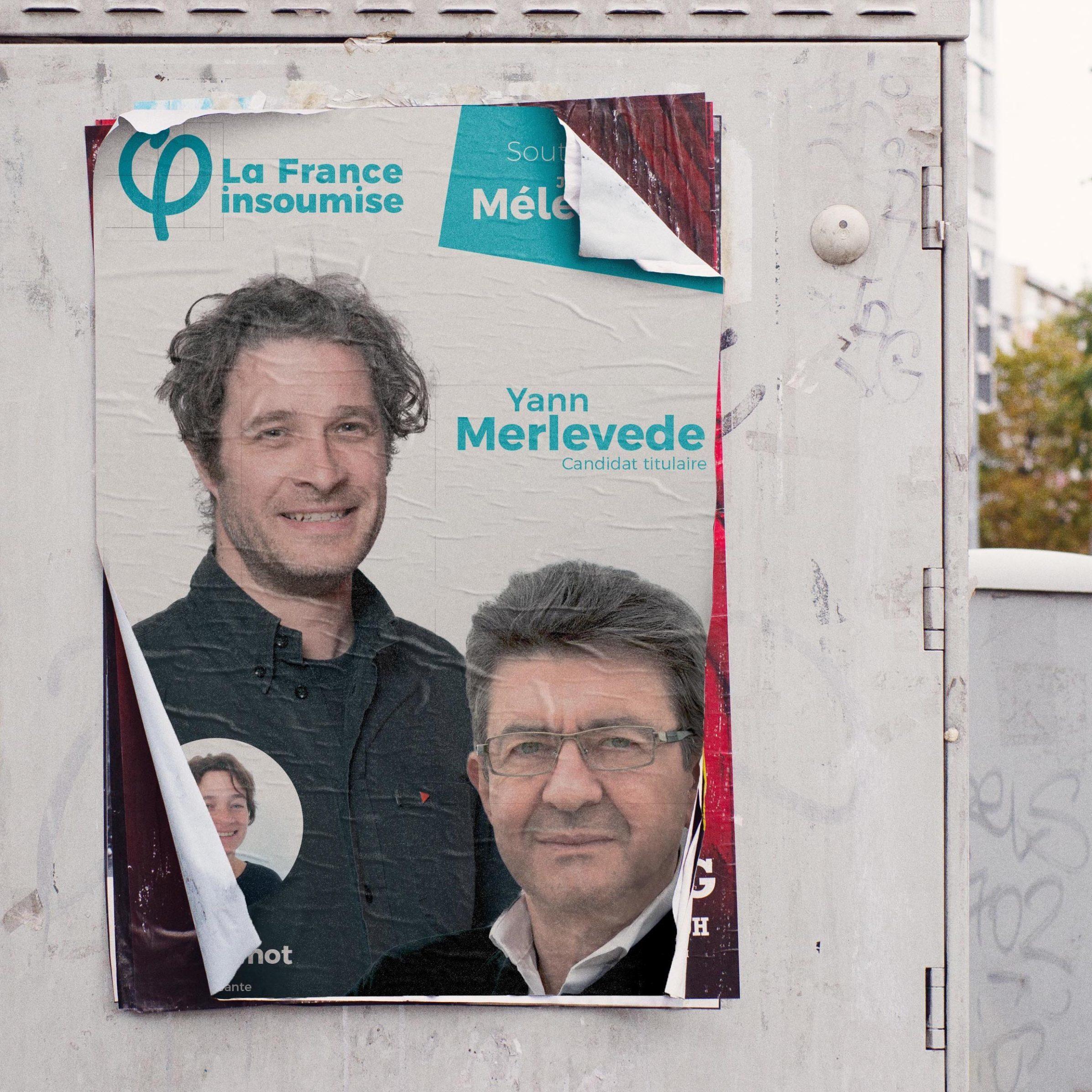 Affiche de campagne LFI pour les élections législatives de 2017