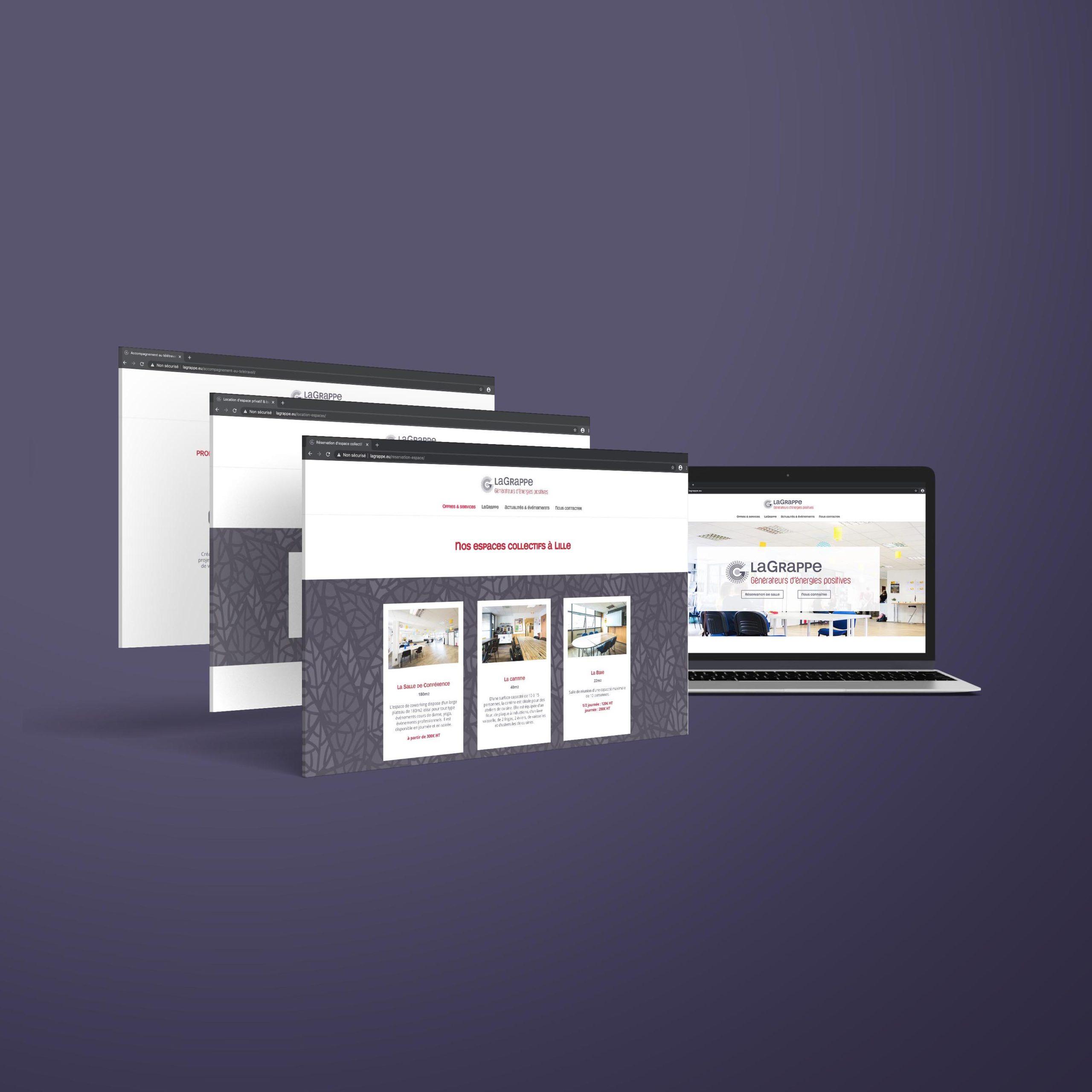 Site internet de l'espace de coworking LaGrappe