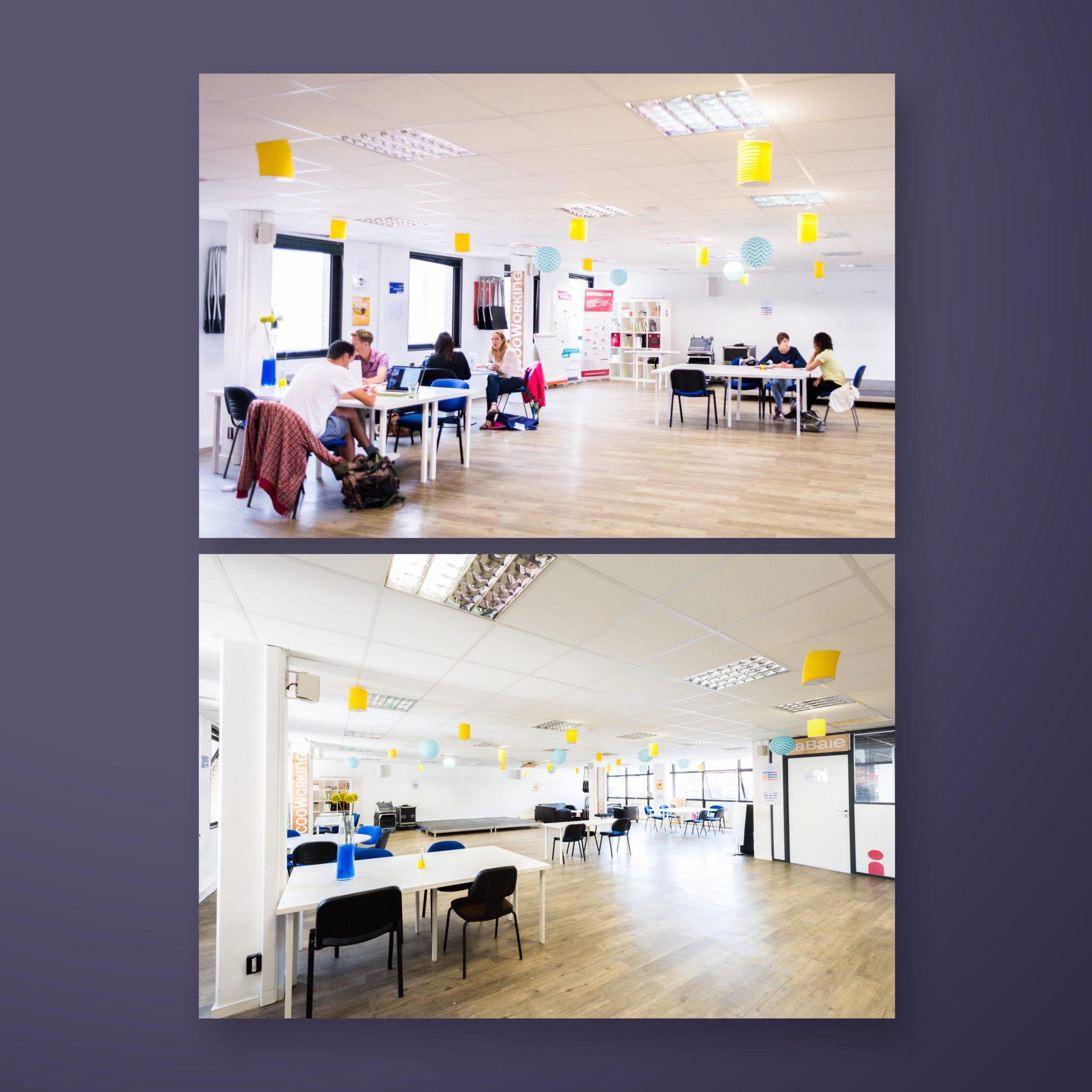 Photographies de l'espace de coworking LaGrappe