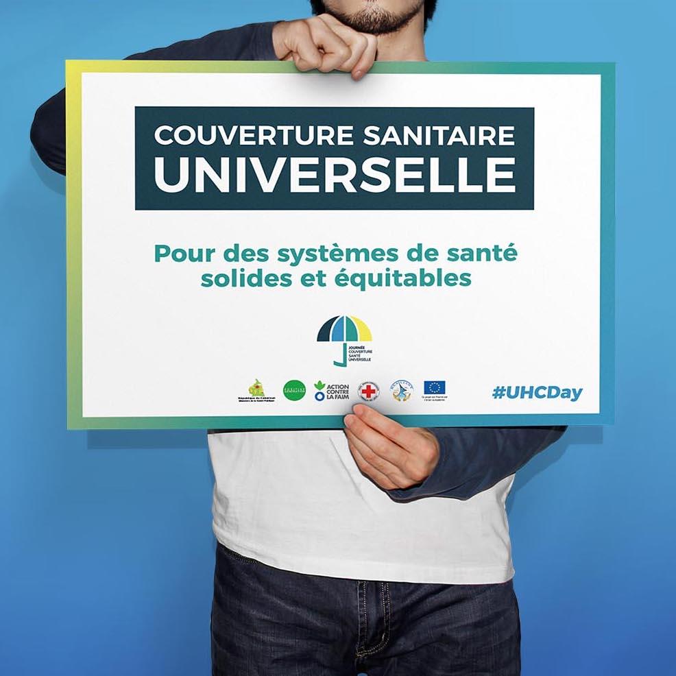 """Pancarte & slogan """"Journée pour la Couverture santé universelle"""""""