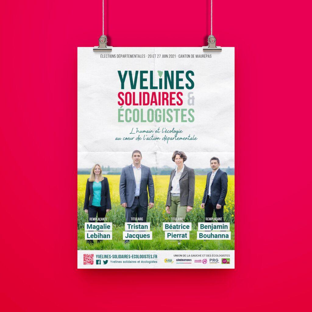 Affiche de campagne d'Yvelines Solidaires et Écologistes